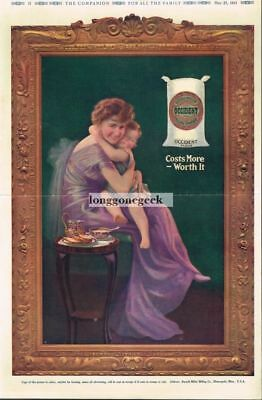 1915 OCCIDENT Flour Woman Mother Holding Small Child art Vtg Print Ad