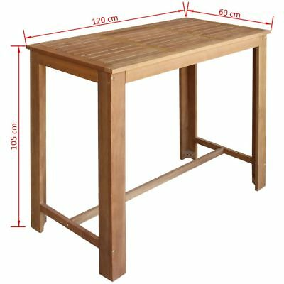 Bar Table Wooden Wine Drinks Console Tables Breakfast Dinner Stand Kicthen Home