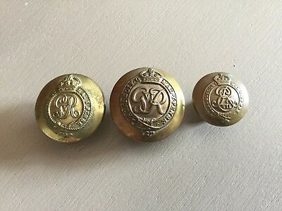 2 x Colonels And Brigadiers & 1 Colonels   Military Uniform Buttons