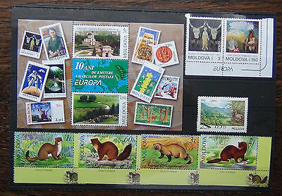 Moldova 1993 Europa 2003 Europa Miniature Sheet 2006 Animals MNH