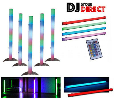 5X ADJ COLOR TUBE II RBG 1M Colour Mood Changing House Party Light Bar + REMOTES