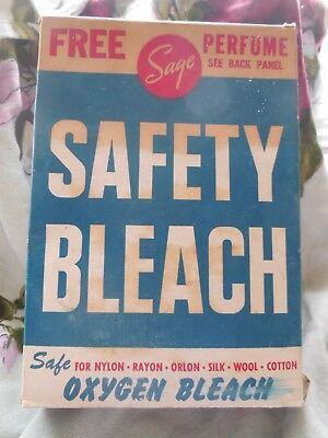 Vintage 50's Laundry Bleach  -SAGE -  nopened w/ contents