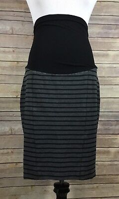 A Pea In The Pod Womens Maternity Knit Stretch Straight Skirt Sz Small Black 850