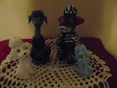 Vintage Spaghetti Poodles and friends 4 pcs