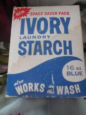 1950 IVORY LAUNDRY STARCH Box - St Lawrence Starch Company Port Credit, Ont.