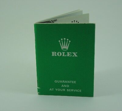 Genuine Rolex vintage blank Guarantee and At Your Service booklet 1968