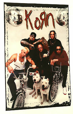 Lot Of 3 Korn Group Bikes Posters From 1998   22 By 34.5 Inches