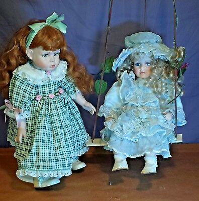 "Doll & SWING Porcelain 17"" CATHAY Collection 1 - 5000 PLUS BONUS DOLL"