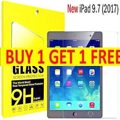 Tempered Glass Genuine Film Screen Protector For Apple iPad 9.7-inch (2017)
