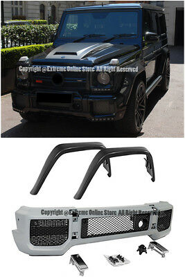 B Style Front Bumper Center Scoop Vent Grille For 13-Up MB W463 G-Class G63 G65