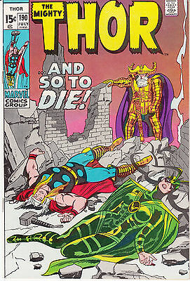 """Thor #190 (Jul 1971, Marvel) """"And So To Die!"""""""