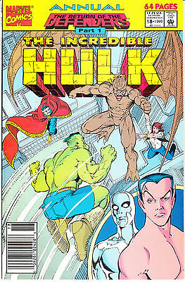 The Incredible Hulk Annual #18 (1992, Marvel) Return of the Defenders