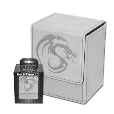 1 Bcw White Lx Deck Case Leatherette Magic The Gathering Mtg Deck Protector Box