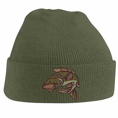 Hat for Cold Whether Fishing One Size with Embroidered Beanie Autumn-Winter Cap