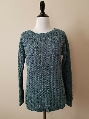 Ann Taylor Loft Cozy Warm Blue Sweater New With Tags Size Small cable knit NWT