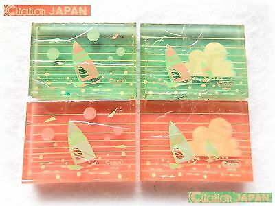 ⛵ VINTAGE 1980 CITATION Japan Surf jelly eraser COMPLETE SERIES w/ CELLOPHANE ☁