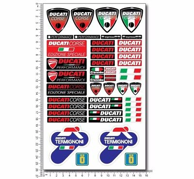 Ducati Termignoni 1098 motorcycle pro quality decals stickers Panigale 1199 1198