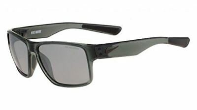 Nike Golf Mavrk Sunglasses, Mercury Grey/Black Frame, Grey with Silver Flash Len