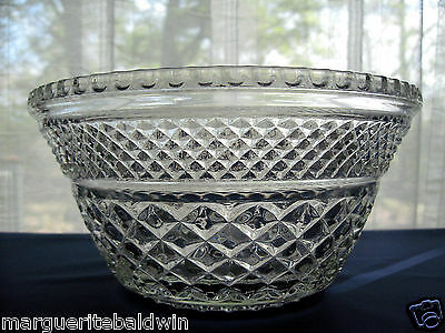 "Anchor Hocking Glass Clear Wexford Punch Bowl Base Stand 9 3/4"" Bowl"