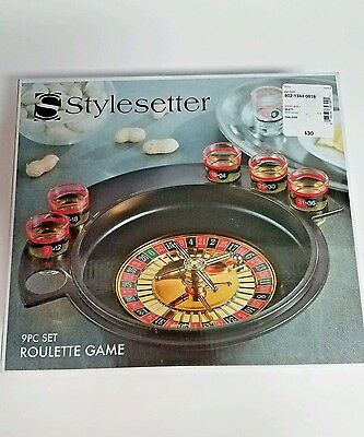 STYLESETTER  Roulette Wheel drinking game casino shot glass alcohol spin NEW!!