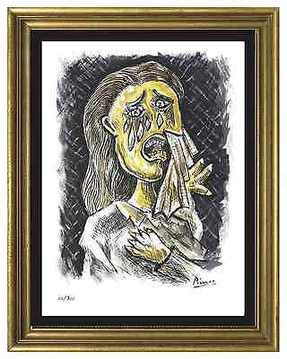 "Pablo Picasso Signed/Hand-Numbered Ltd Ed ""Weeping Woman"" Litho Print (unframed)"
