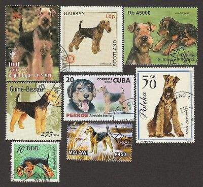 AIREDALE ** Int'l Postage Stamp Collection  **Great Gift Idea**
