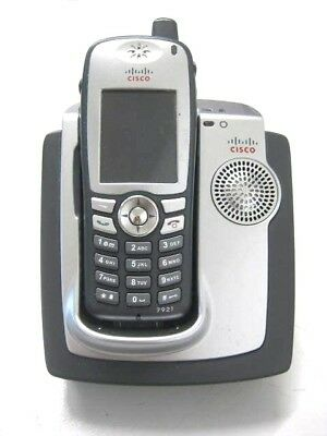 CISCO 7921G Unified Wireless IP Phone w/ Desktop Charger CP-DSKCH-7921G Grade A
