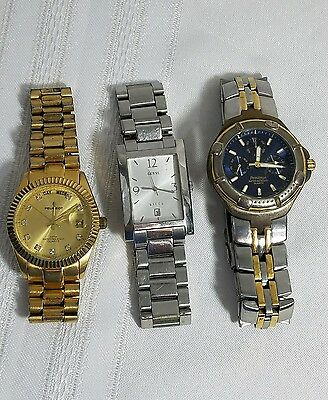 Watches Mens Peugeot Guess Armitron  Lot of 3  ****NOT TESTED****