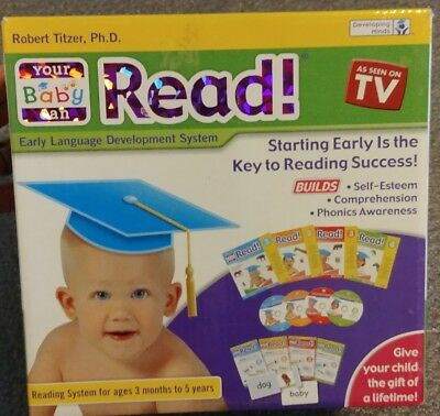 Your Baby Can Read by Robert Titzer COMPLETE starter set 3months - 5 years