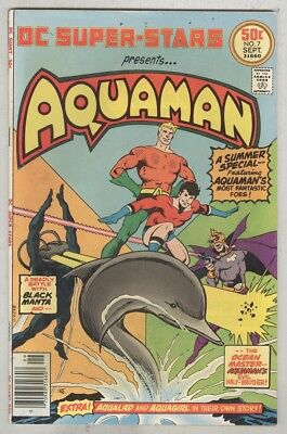 DC Super-Stars Presents Aquaman #7 September 1976 VG/FN Black Manta