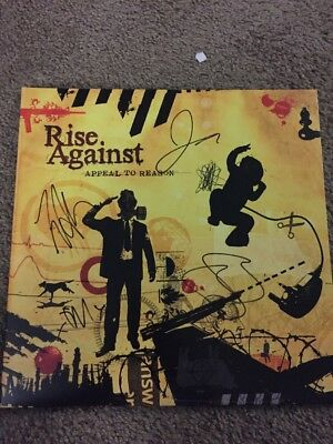 Rise Against Signed Autograph Appeal To Reason Vinyl Record Tim Mcilrath +3
