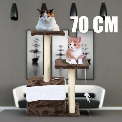 70cm Cat Scratching Post Tree Scratcher Pole Furniture Gym House Toy Small B^