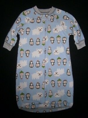CARTER'S Child of Mine * Boys 0-9 Months FLEECE SLEEPSACK Sleep Gown WINTER Cute