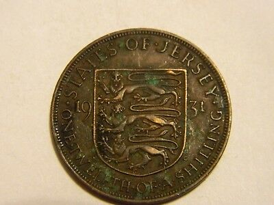 1931 Jersey 1/12 of a Shilling Large Bronze Coin --- Lot #2709