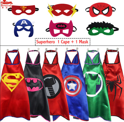 .Superhero Cape 1 cape+1 mask for kids birthday party favors and ideas cosplay
