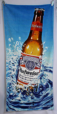 Anheuser Busch Budweiser Beer Bottle Bud Splash Beach Towel