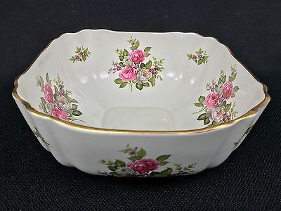 """Staffordshire Old Foley James Kent Harmony Rose ONE 8 5/8"""" Square Serving Bowl"""