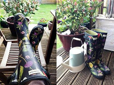 Hunter Limited Royal Horticultural Society Rubber Rain Garden Boots Gorgeous New