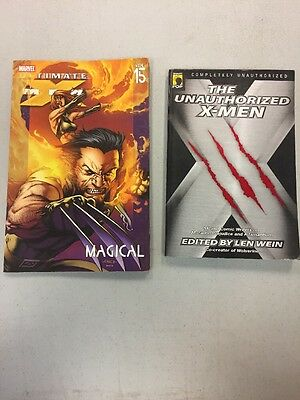 Lot Of 2 X-men Paperback Books The Unauthorized & Ultimate Vol. 15