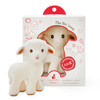 CaaOcho Mia The Lamb Teething Toy, Teether, Baby Toys Baby Gifts,
