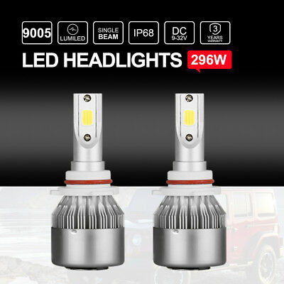 Philips 9005 HB3 LED Headlights Kit Single Beam Bulbs Globes vs Halogen Xenon