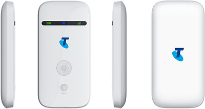 Telstra ZTE MF65 White 3G Pocket Wifi Lite Connect Up to 5 Devices + 2GB Data