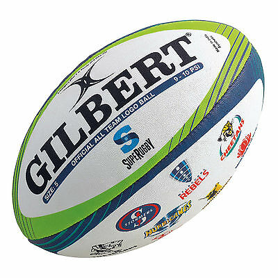 Gilbert Super Rugby All Teams Logo Ball - Size 5