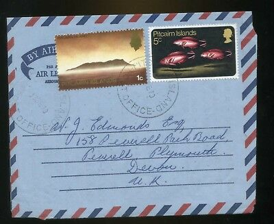 Pitcairn Island Airletter -Posted to Plymouth UK