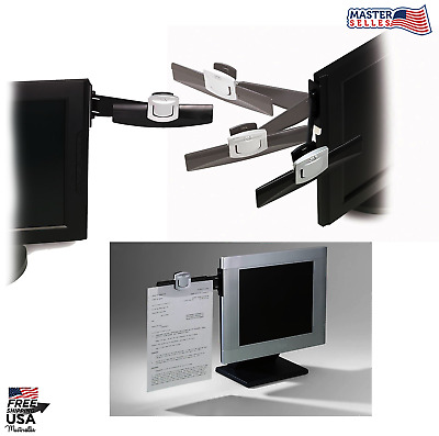 Office Monitor Paper Clip Document Holder for Viewing & Storage File Copy Stand