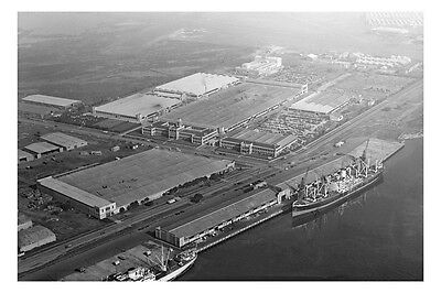 FISHERMANS BEND HOLDEN Factory 4th aerial view 1948 modern Digital Postcard