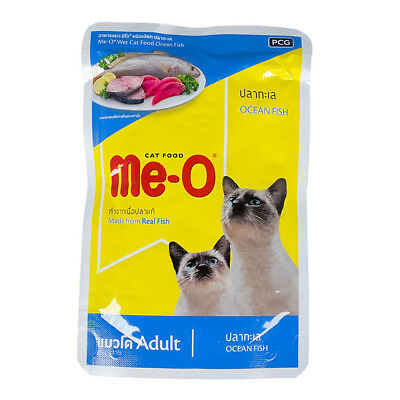 Me-O Adult Cat Wet Food Made from Real Fish Nutritious Meal Ocean Fish 80g