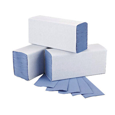2Work Blue 1-Ply M-Fold Hand Towel 242x240mm (Pack of 3000) 2W71923