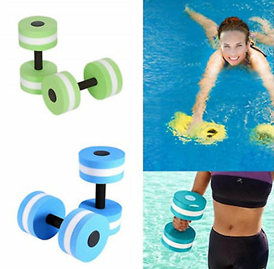 1 Pair EVA Swimming Pool Fitness Barbells Light Weights Dumbbells Water Aerobics