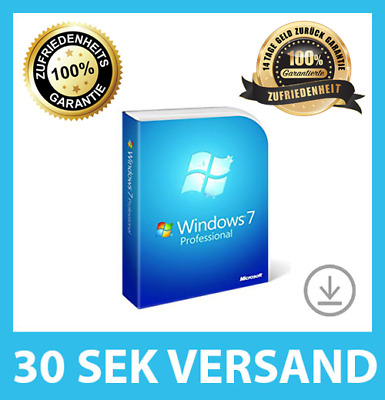 Microsoft Windows 7 Professional (PRO) ✓ 32/64BIT VOLLVERSION ✓ PRODUCT-KEY